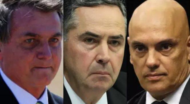Bolsonaro quer o impeachment dos ministros Moraes e Barroso
