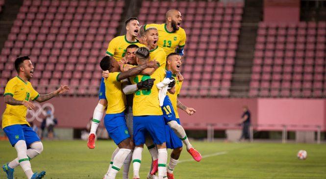 Malcom marca na prorrogação e Brasil conquista o Ouro no futebol