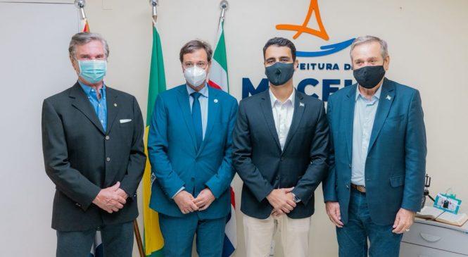 JHC se reúne com ministro Gilson Neto e senadores Collor e Cunha para tratar da retomada do turismo