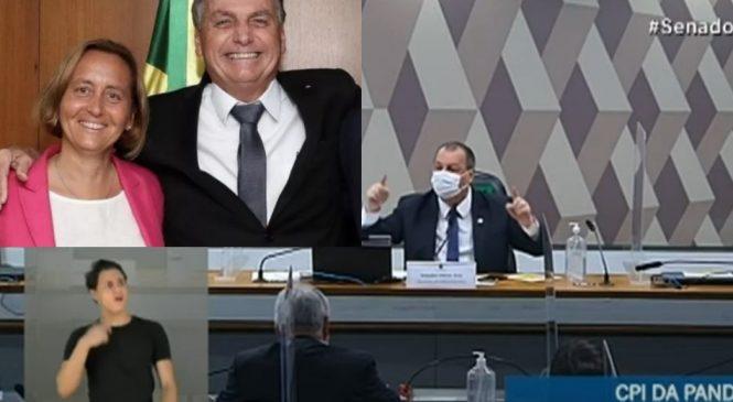 'Nazismo não': Aziz critica na CPI encontro às escondidas de Bolsonaro com deputada neonazista