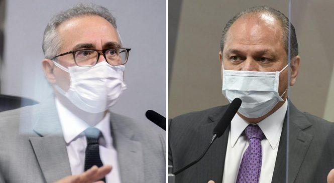 """Renan Calheiros e líder do governo Bolsonaro trocam ofensas: """"comandante de roubalheira"""""""