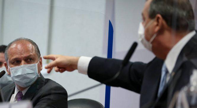 Aziz diz que Barros mentiu, troca convite por convocação e suspende depoimento