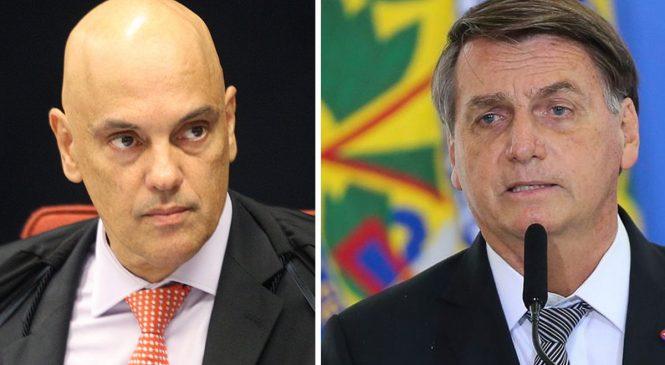 Bolsonaro apresenta pedido de impeachment só de Alexandre Moraes