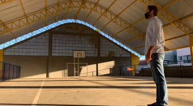 Marechal inaugura ginásio poliesportivo construído com emenda de Pedro Vilela