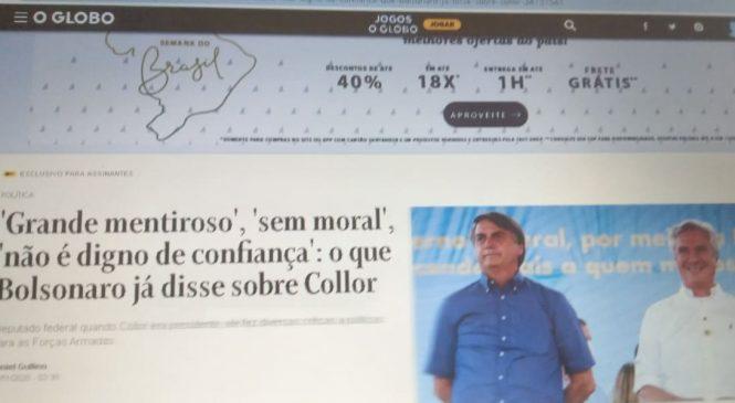 Collor, o moderninho do Twitter, grava vídeo em apoio a bolsonaristas