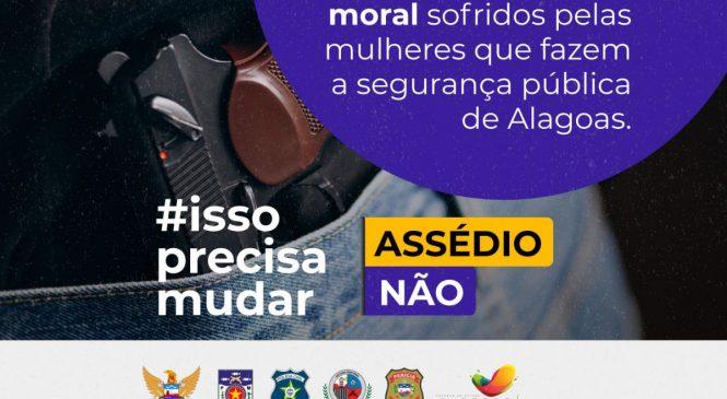 """""""Mulheres em segurança – assédio não"""": MPE-AL combate prática nos órgãos da SSP"""