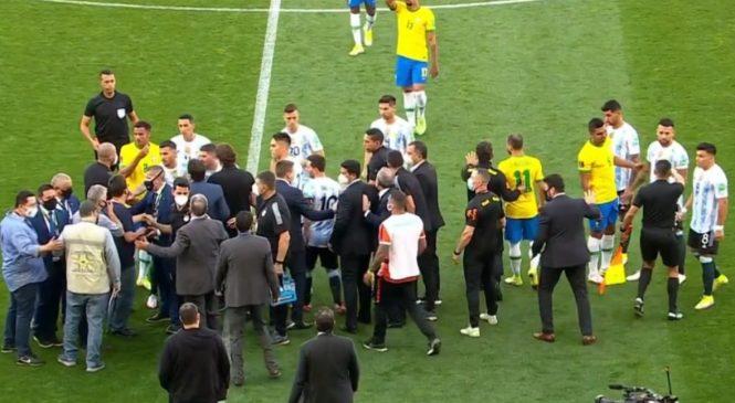 Anvisa suspende jogo do Brasil para tirar de campo jogadores da Argentina
