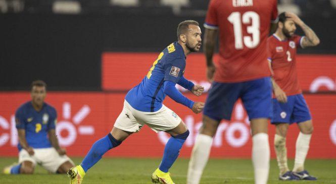 Brasil vence o Chile fora de casa e segue 100% nas Eliminatórias da Copa