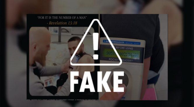 Vídeo que mostra leitor de chips em braço de  vacinado é apenas uma piada idiota