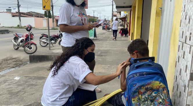 Assistência Social promove ação de combate ao trabalho infantil na parte alta de Maceió