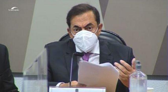 CPI: Tolentino nega ser sócio do FIB Bank, mas relata encontros com Bolsonaro