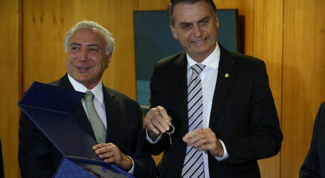Temer diz que é contra impeachment de Bolsonaro por causa do trauma