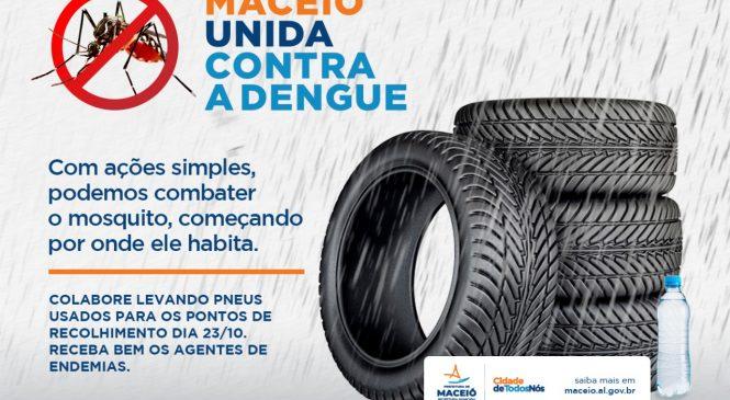 Mutirão de coleta de pneus intensifica a partir de hoje combate à dengue em Maceió