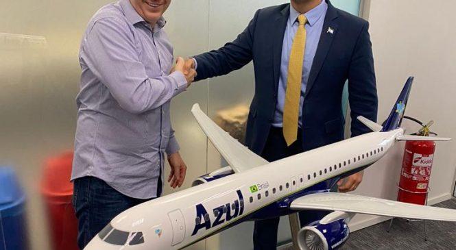 JHC anuncia mais 9 destinos para Maceió, após reunião na Azul Linhas Aéreas