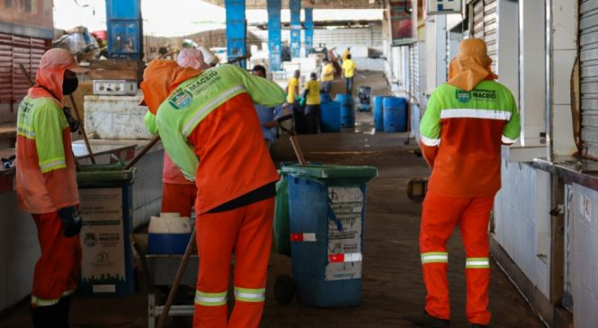 Mercado da Produção fecha para realização de mutirão de limpeza