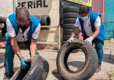 Saúde conclui mutirão em borracharias e convoca população para dia D da coleta de pneus