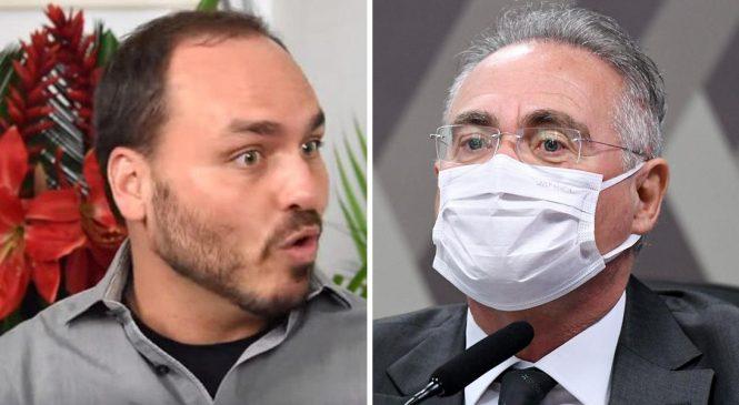 CPI: Renan Calheiros apontará Carlos Bolsonaro como articulador de fake news