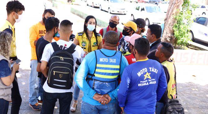 SMTT realiza busca ativa para incentivar adesão de mototaxistas