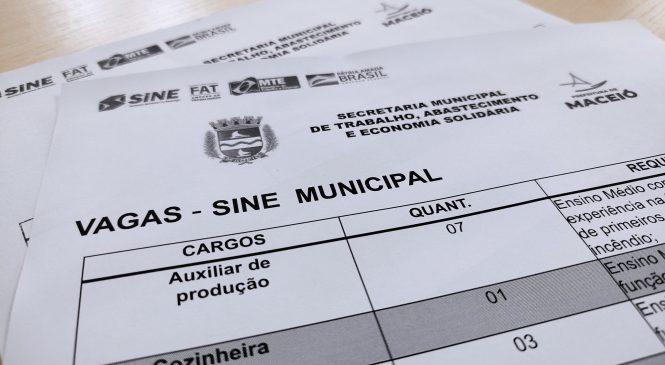 Sine Maceió disponibiliza mais de 50 vagas de emprego