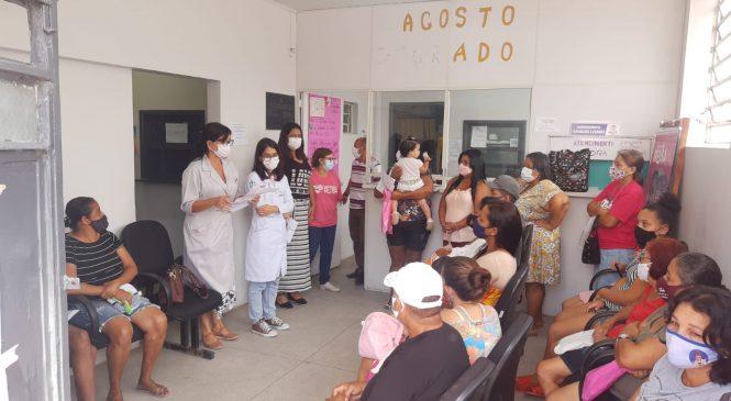 Unidades de saúde reforçam prevenção sobre câncer de mama com usuárias em Maceió